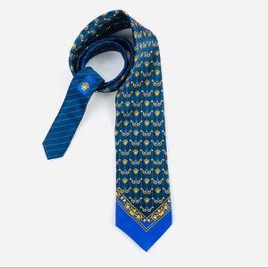 RARE Gianni Versace medusa head print tie